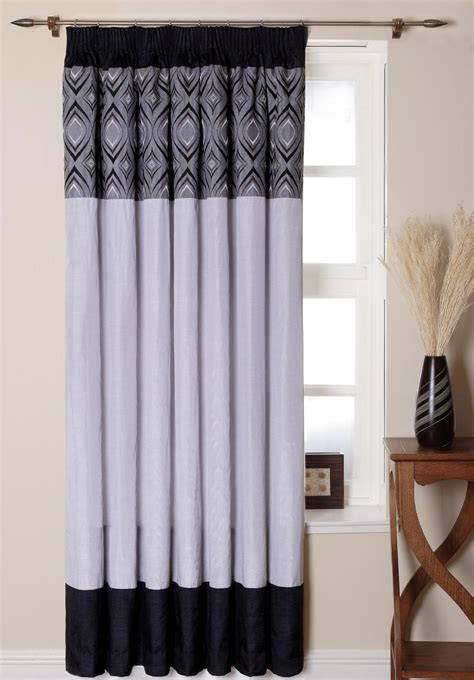 white and black curtains white patterned curtains homesfeed