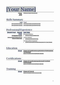 Free Blanks Resumes Templates