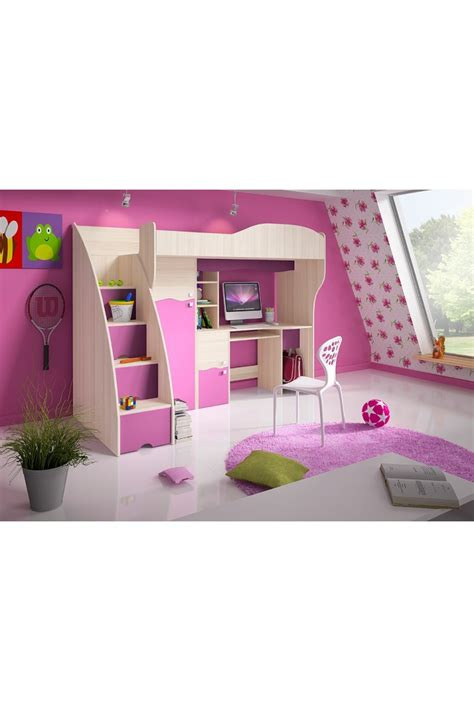 tiroirs de rangement bureau lit mezzanine superposé combiné avec bureau et armoire