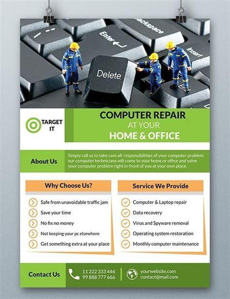 computer repair flyer template psd titanui