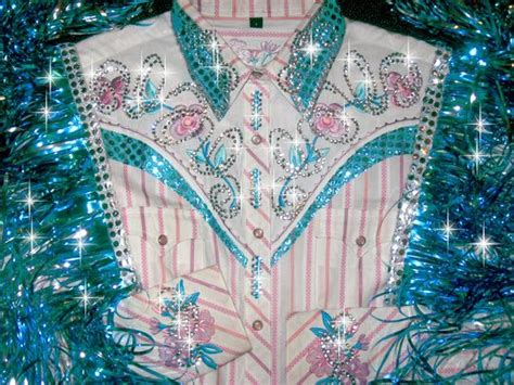 pretty pastels embroidered flowers rodeo queen western