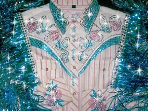 Mylar Embroidery Designs Pretty Pastels Embroidered Flowers Rodeo Queen Western