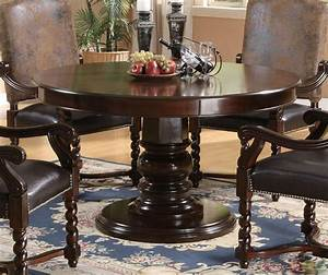 Set Table Rond : harrelson 5 piece transitional round table dining set ~ Teatrodelosmanantiales.com Idées de Décoration