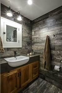 meuble salle de bain rustique chic With lavabo petite salle de bain
