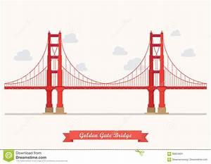 Golden Gate Bridge Illustration Stock Vector