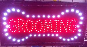 Grooming Led Business Sign