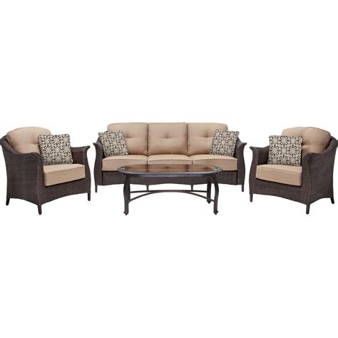 hanover gramercy 4 all weather wicker patio seating