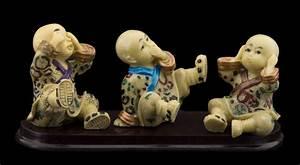 Statue Singe De La Sagesse : 3 moines bouddha style singes de la sagesse ne rien voir ~ Teatrodelosmanantiales.com Idées de Décoration