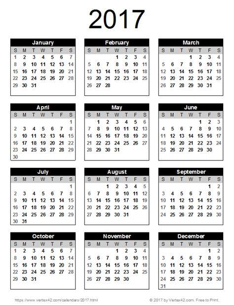 calendar template by vertex42 a free 2017 calendar portrait orientation from vertex42 calendars