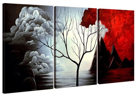 Home Decor Paintings 3 Panel Classic Paris Oil Painting On: 10 Collection Of Modern Framed Wall Art Canvas