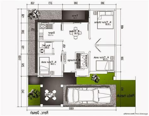 gambar denah rumah minimalis ukuran 6x10 terbaru keren