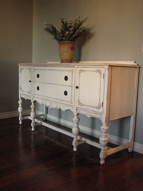 Antique White Sideboard by European Paint Finishes Another Pretty Antique Sideboard