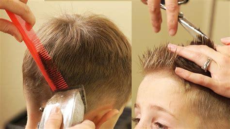 cut boys hair taper fade haircut