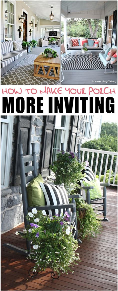 porch  inviting summer front