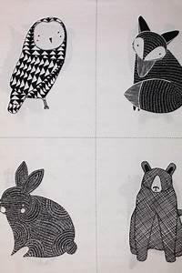 Stoffe Zum Nähen Kaufen : stoff tiermotive bw thicket critter panel white ein designerst ck von tuchhandlung bei ~ Buech-reservation.com Haus und Dekorationen