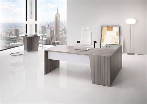 bureau de direction blanc bureau direction b select coloris bois cèdre et table de