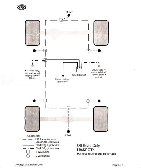 Jeep Led Light Wiring Diagram by How To Install Your Road Only Lite Spot Chassis Rock