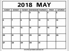 May 2018 Calendar Print Calendar from Freeprintable