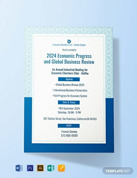 meeting invitation template word psd indesign