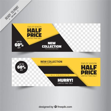 Banner Template Psd Abstract Sale Banner Templates Vector Free