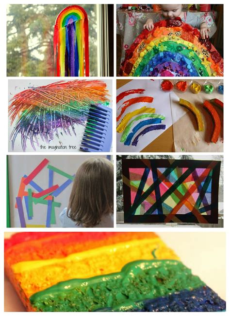 40 fantastic rainbow activities for the 605 | rainbow crafts for younger kids