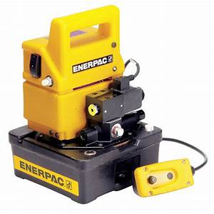 Enerpac Hydraulic Pump With Dump Control Valve
