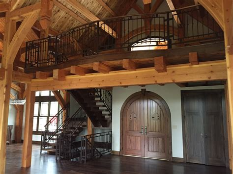 interior stair railing ideas modern log cabin custom railing and custom pot rack