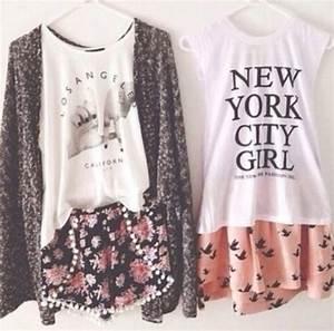 Blouse: new york city, skater skirt, pastel, muscle tee ...