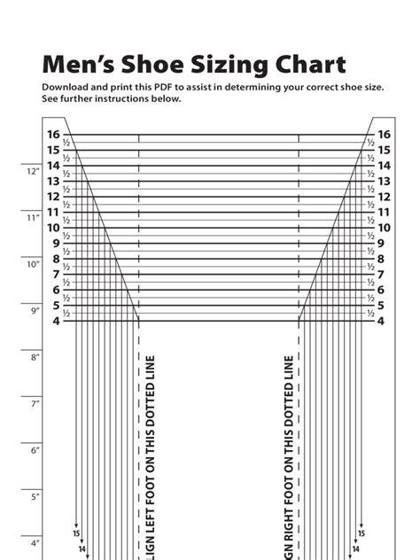 mens shoe sizing chart dpng  shoe size chart