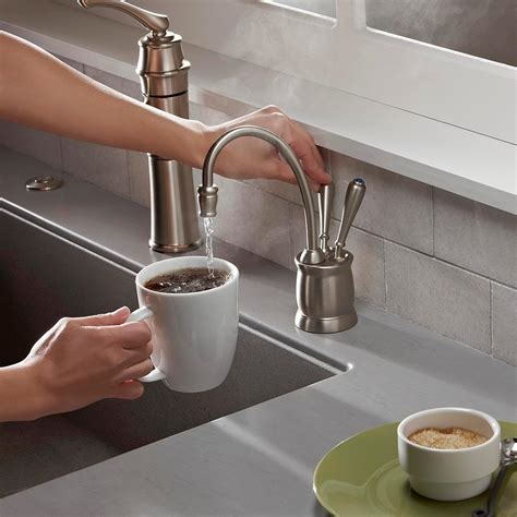 kitchen sink food dispenser insinkerator f hc2215orb indulge tuscan and cold water 5807