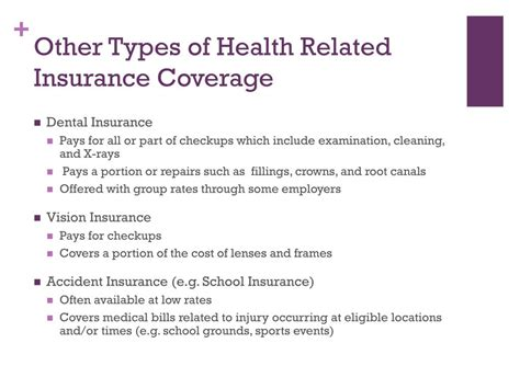There are different kinds of life insurance to suit people's different needs. PPT - 7.01: Classify types of health and life insurance and features of types of coverage ...
