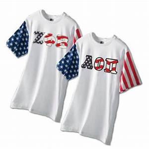 greek stars and stripes t shirt with sewn on letters greek With cheap greek stitched letter shirts