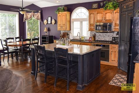 angela mike s new granite countertops match cabinets