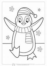 Coloring Winter Penguin Pages Printable Sheets Christmas Easy Fun Children Snowman Itsybitsyfun Crafts Preschool Colouring Printables Kindergarten Cool Weihnachten Snowflake sketch template