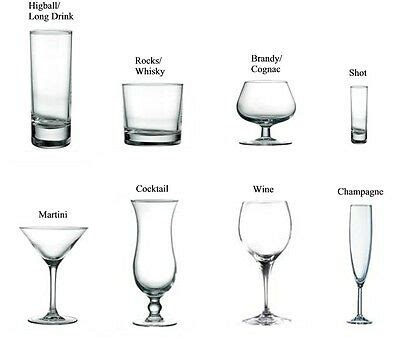 Types Of Barware by A Guide To Bar Glass Types Ebay