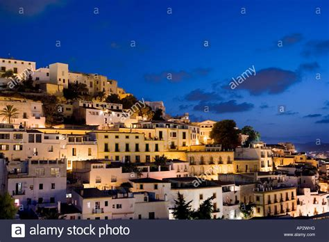 Ibiza Town By Night Stock Photos And Ibiza Town By Night