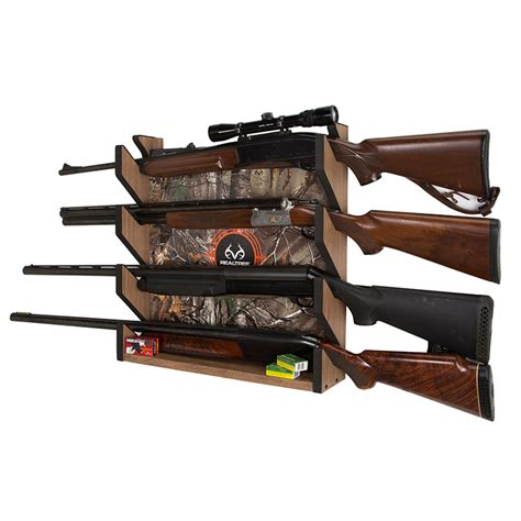 gun racks for wall realtree camo 4 gun wall storage rack 187 creek creations