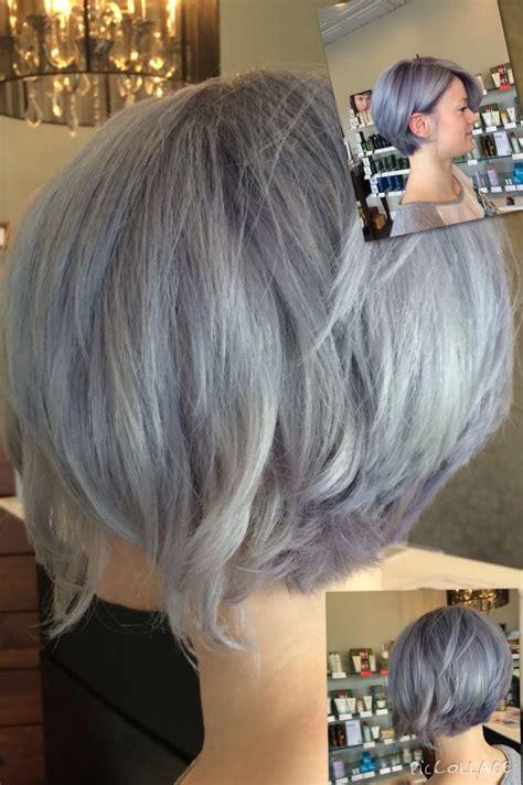 platinum blonde   shades  grey lavendersilver grey pravana angled bob