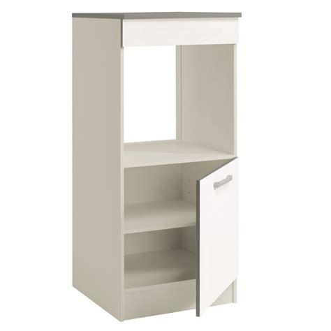 meuble colonne cuisine 60 cm demi colonne four 60cm quot shiny quot blanc