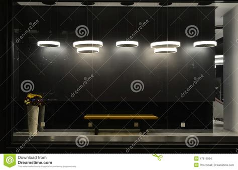 empty store window with led light bulbs led l used in