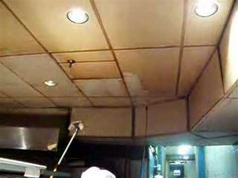 Cleaning Stained Commercial Kitchen Ceiling   YouTube