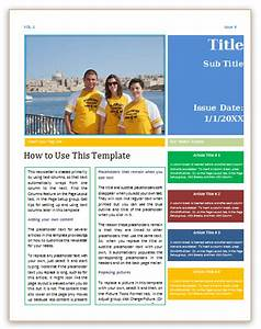 free pages newsletter templates