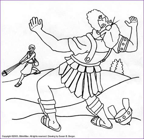david  goliath coloring pages printables coloring pages