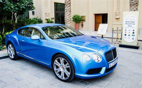 Rent Bentley Continental Gt Blue