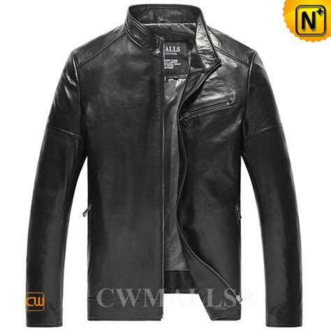 Cwmalls Designer Leather Jacket Mens
