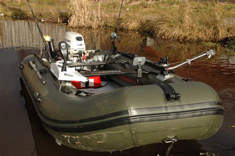 Fishing Off An Inflatable Boat by Bison Marine Olive Green Inflatable Fishing Sports Air Rib