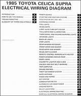 1994 Toyota Supra Wiring Diagram Original