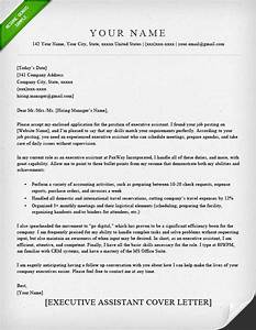 administrative assistant executive assistant cover With executive resume cover letter
