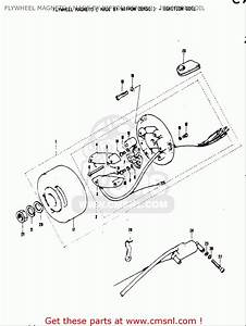Suzuki As50 1971  R  Usa  E03  Flywheel Magneto   Made By