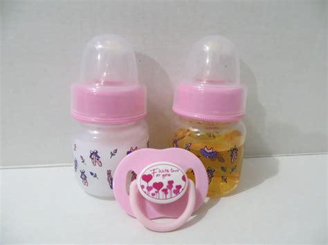 2 Reborn Baby Doll Preemie Bottles 2oz Pink Fake Milk Juice